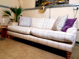 John lewis Penryn 3 seater sofa in check fabric RRP £1600
