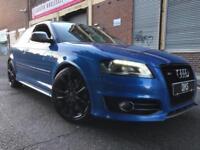 Audi S3 2009 2.0 TFSI Quattro 3 door FULLY LOADED, SAT NAV, F/S/H, SPRINT BLUE