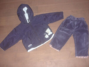 2 pieces Boys jacket by bear hugs and greendog pants size 18-24