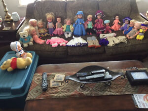 Big doll collection with homemade clothes