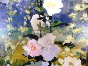 "Hand S/N by Peter Etril Snyder ""Hollyhocks By The Fence"" 16/500 Stratford Kitchener Area image 7"