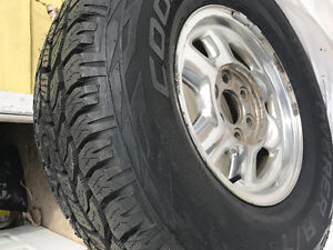 BRAND NEW 265/75/16 COOPER A/T 3 TIRES AND RIMS