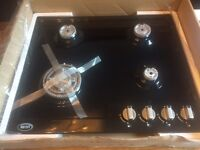 Black gloss gas hob brand new Boxed