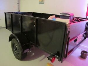 Trailer heavy duty, steel frame, aluminium sides and bed