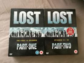 Lost DVD Complete Season 1- parts 1&2