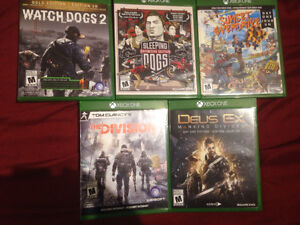 Selling 5 Xbox one games