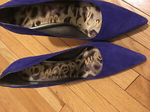 Sam Edelman Suede Blue Pumps - like new Strathcona County Edmonton Area image 3