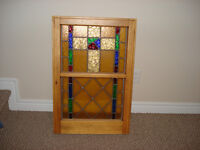 stained glass in frame
