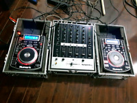 PAIR OF 2 NUMARK NDX 400 With NUMARK M6 USB MIXER FULL SETUP