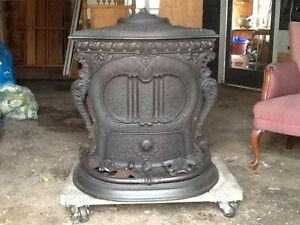 Antique wood stove.