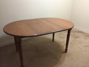 Dining Table Solid Maple With Leaf