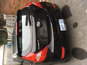 2016 Hyundai Accent Black Hatchback