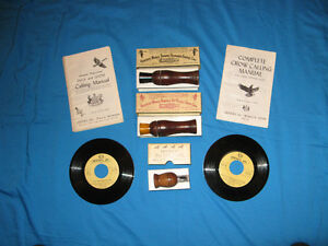 Vintage Duck, Goose and Crow Calls With Instructions