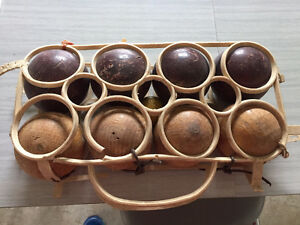 Antique Bocci Ball Set
