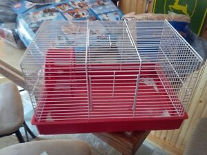 Wire Hamster Cage. Food. Treats. Bedding. House. Running Wheel