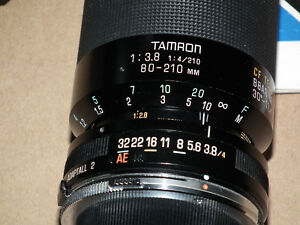 TAMRON  ADAPTABLE -2  ZOOM  LENSE  80-210 MM  MACRO .