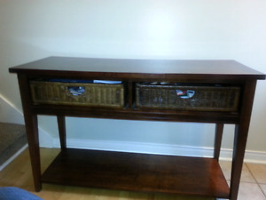 Sofa table (moving sale)