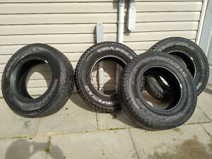 Four 255 75 17 Goodyear Tires