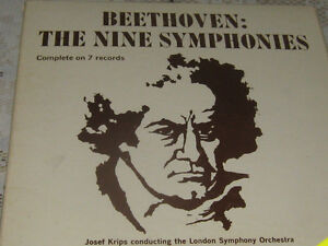 Vintage complete beethoven symphonies- 7 record set