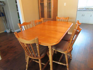 Wood Table and Chairs