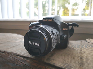 NIKON D3200 with bag and accessories