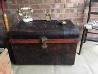 LARGE ANTIQUE TRUNK CHEST FREE DELIVERY COFFEE TABLE