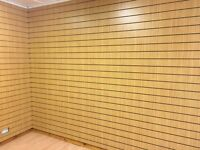 Slatwall for sale. 13 sheets of 8ftx4ft great condition