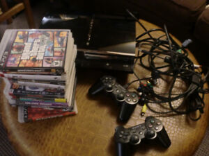 PLAYSTATION 3 BUNDLE ( console/2 controllers/14 games/ various