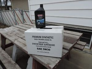 One case of 12 liters - Sears Craftsman 5w30 Synthetic motor oil