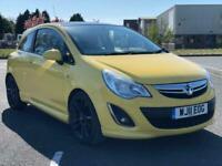 2011 Vauxhall Corsa 1.2 LIMITED EDITION Petrol 3 Door Yellow Hatchback Petrol Ma