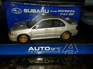 1:18 Diecast 2001 New Age Subaru Impreza STI Autoart