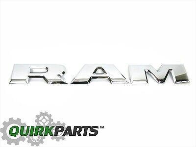2015-2018 DODGE RAM 1500 TAILGATE RAM EMBLEM LETTERS SET OF 3 CHROME OEM MOPAR