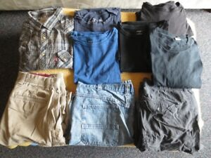 Men's Clothes Size L-XL & Tall men's pants 34x36 for saleGently