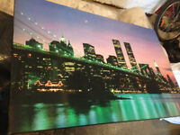 Laminated Hanging picture of new york LAMINATED picture 60$