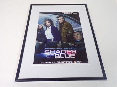 Shades of Blue 2017 NBC Framed 11x14 ORIGINAL Advertisement Jennifer (Jennifer Lopez Sunglasses 2017)