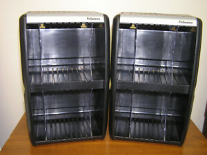 New Unused Two CD/DVD Organizer Storage Towers