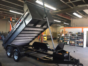 DUMP TRAILER NEW DELUXE COMMANDO 71224 SE MODEL