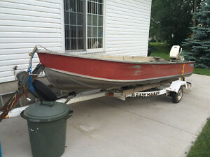 14' boat/motor and trailer