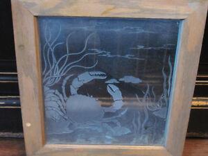 Antique Gesso Mantel Etched Mirror for Sale Oakville / Halton Region Toronto (GTA) image 8