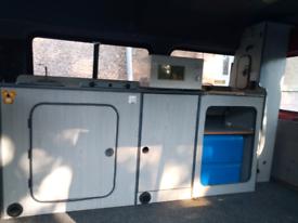 Campervan van unit sink, hob, water tank