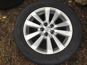Tires and Rims off a 2010 Toyota Corolla 16 inch exc condition