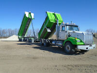 Westernstar Gravel Truck With 2007 Midland Quad Wagon