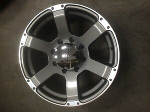 8 X 6.5.  Core rims.  Dodge 3500 or Chevy Gmc 2010 down.