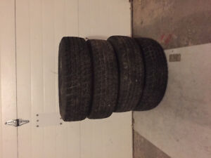 Winter tires P185/70R14 on rims