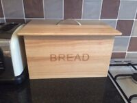 Wooden 'Habitat' bread bin (brand new)