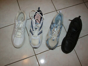used womens' running shoes -- 11 and 11wide