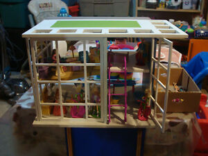 Small Barbie Wooden Modern  Play House $40.00