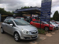 2008 08 Vauxhall Corsa 1.2i 16v 3 Dr Breeze in Silver 40,000 miles, 1 lady owner