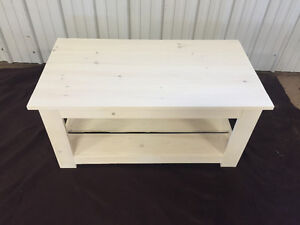 White wash pine coffee table