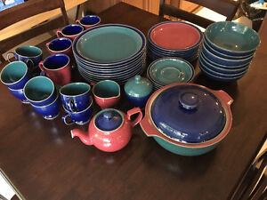 Denby Harlequin set of fifty pieces - Used but in amazing shape! Kitchener / Waterloo Kitchener Area image 1